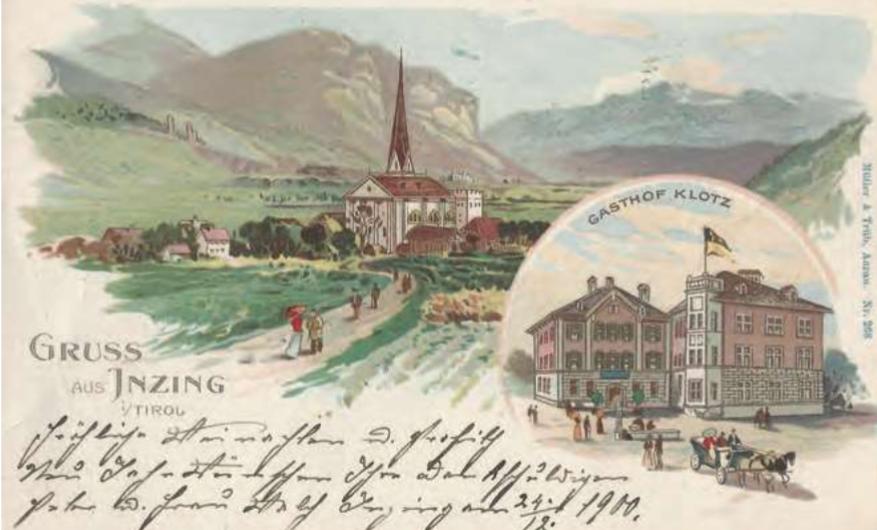 INZING im 19. Jahrhundert – ein historischer Streifzug von Markus Geyr