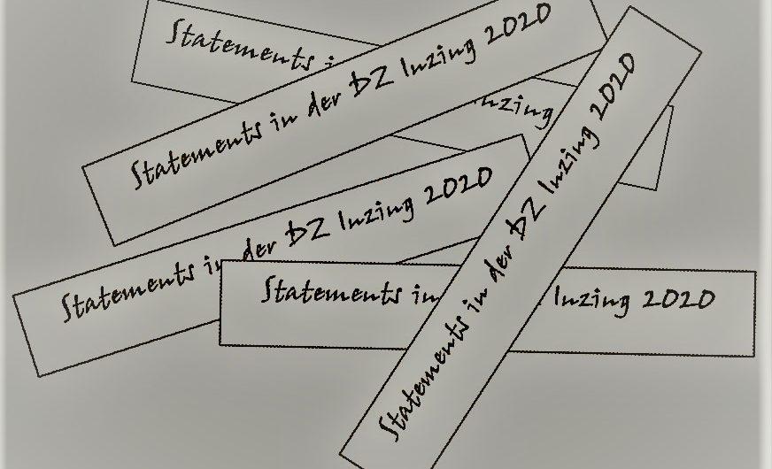 Markante Aussagen im Blog der DZ-Inzing 2020