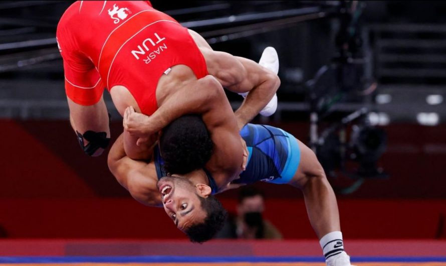 Ringer Aker Al Obaidi bei Olympia